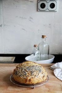 kváskový chlieb s čedarom